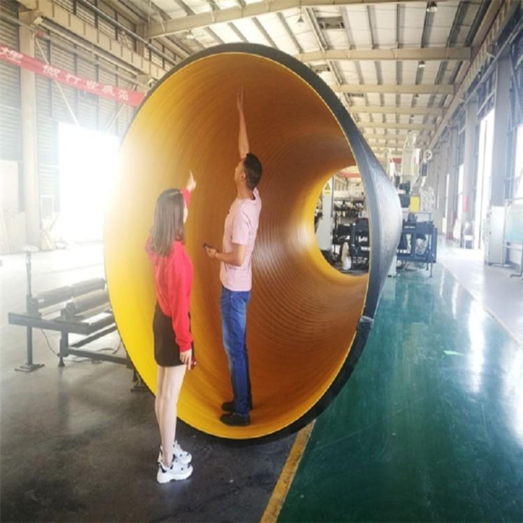 pe钢带管 国标钢带增强波纹管 国标波纹管