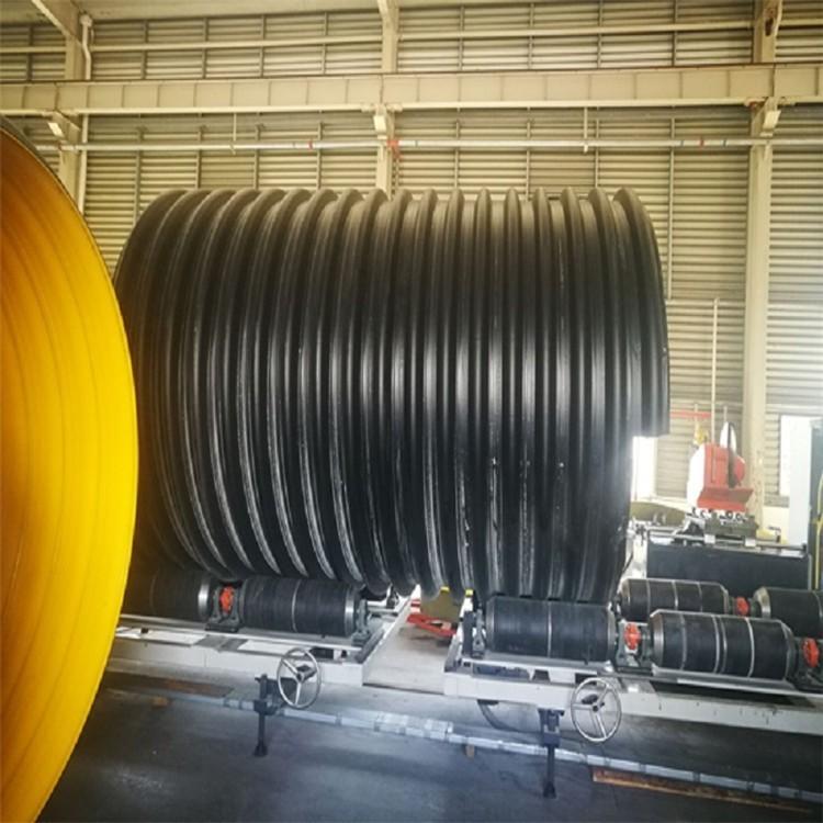 大口径钢带聚乙烯波纹管 HDPE钢带增强螺旋波纹管