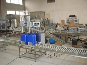 25升-30升油漆罐装机 小型半主动灌装出产线