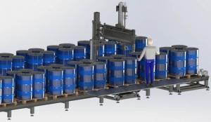 光滑油全主动液体灌装线