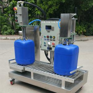 18升化工灌装机 20升主动罐装出产线 光滑油分装机