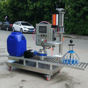 20升-60升真石漆灌装机 小型半主动罐装出产线