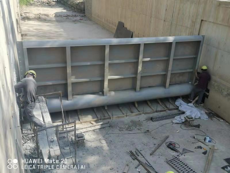 钢坝闸门施工  液压坝定位