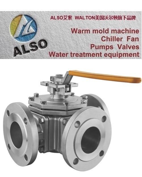 美国ALSO艾索 T型不锈钢三通球阀