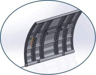 漏顶式定轮钢制闸门设计图