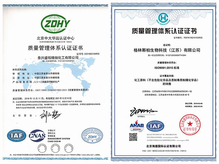 质量Z(S+G)认证证书