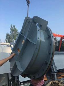 国标法兰DN1500碳钢拍门 水泥管碳钢焊接拍门 节能型侧翻式Q235B平板浮箱钢制拍门