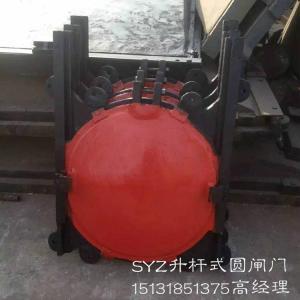 SYZ-300明杆式铸铁闸门参数 铸铁镶铜圆闸门价格 手动升杆式圆闸门厂家
