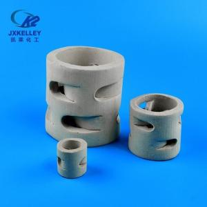 50mm陶瓷鲍尔环填料|陶瓷散堆填料厂家