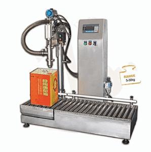 25L稀释剂桶自动灌装机 自动压盖罐装机