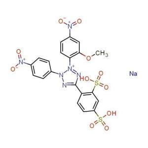 2-(2-甲氧基-4-硝基苯)-3-(4-硝基苯)-5-(2,4-二磺基苯)-2H-四氮唑单钠盐