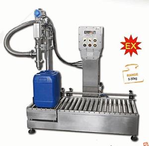 25公斤涂料树酯灌装机 不锈钢出料口罐装机