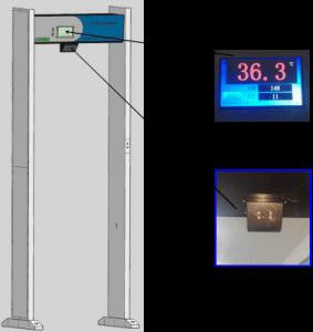 LB-103 门框式红外测温仪 产品图片