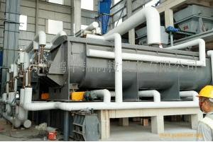 生活污水污泥卧式圆盘干化机-印染污泥空心桨叶干燥机-钛材干燥机