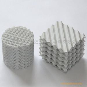 搪瓷塔陶瓷波纹填料X型和Y型瓷质孔板波纹填料 产品图片