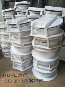 Φ800HDPE拍门安装方式 DN800塑料拍门采购 0.8米高分子拍门价格 高密度聚乙烯拍门厂家