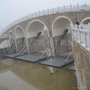 钢坝和翻板闸的区别 液压坝钢坝面闸门