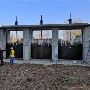 1m×1m铸铁闸门配置3吨手摇启闭机