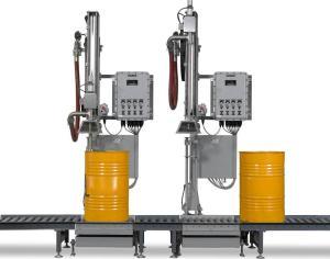 小口方桶25升硫酸摇臂式灌装机
