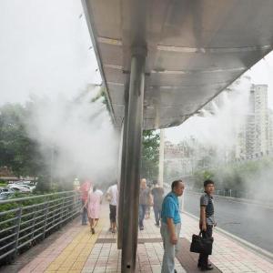 公交站降温喷雾设备