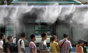 车站候车室微雾降温装置