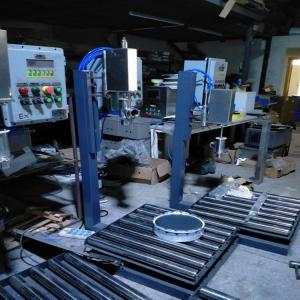 上海广志200KG桶防静电罐装机,胶水灌装机