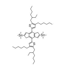 (4,8-双(5-(2-乙基己基)-4-己基噻吩-2-基)苯并[1,2-b:4,5-b']二噻吩-2,6-二基)双三甲基锡 CAS号:1627681-05-3 现货优势供应 科研产品